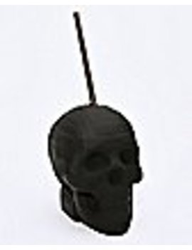 Matte Skull Cup With Straw   24 Oz. by Spencers