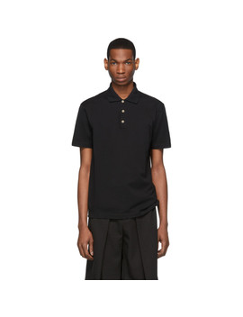 Black Medusa Buttons Polo by Versace