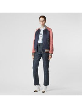 Icon Stripe Detail Monogram Motif Bomber Jacket by Burberry