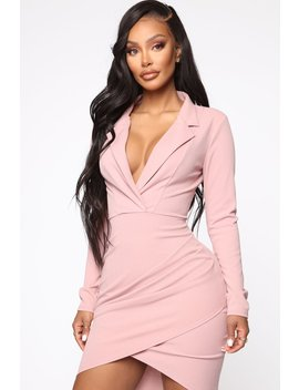 Talented Wrapper Mini Dress   Mauve by Fashion Nova