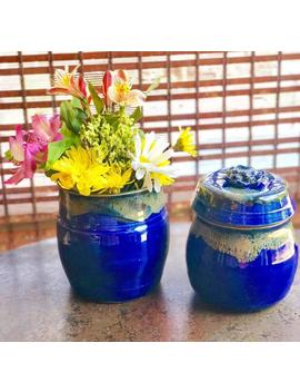 Pottery Lidded Jar And Vase by Etsy