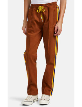 Striped Cotton Canvas Track Pants by Just Don