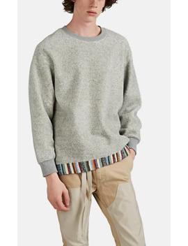 Oversized Kofu Trimmed Fleece Sweatshirt by Kuon