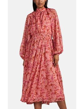 Floral Chiffon Midi Dress by By Ti Mo