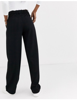 Jdy Wide Leg Trousers In Black Check by Jdy's