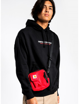 Range Slouch Pullover Hoodie In Black by Glue Store