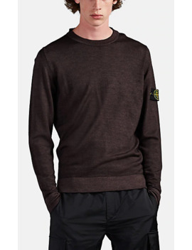 Fine Gauge Wool Crewneck Sweater by Stone Island