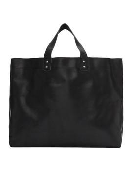 Black Waxed Velour Tote Bag by Comme Des GarÇons Homme