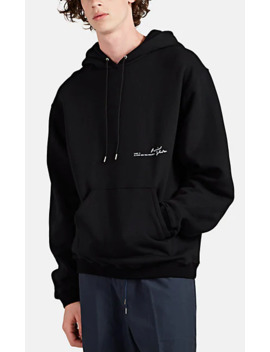 Graphic Oversized Cotton Hoodie by Oamc