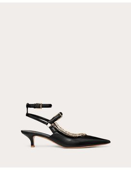 Calfskin Pump With Chain Detail 45  Mm by Valentino Garavani