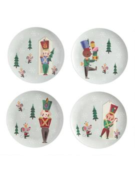 Holiday Toy Soldier Melamine Plates Set Of 4 by World Market