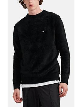 Fuzzy Angora Blend Crewneck Sweater by Stampd