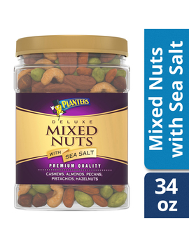 Planters Deluxe Mixed Nuts With Sea Salt, 34.0 Oz Jar by Planters