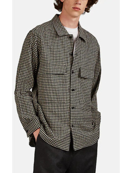 Checked Cotton Wool Military Shirt by Sage De Crêt