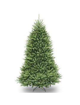 National Tree Pre Lit 6 1/2' Dunhill Fir Hinged Artificial Christmas Tree With 650 Multi Lights by National Tree Company