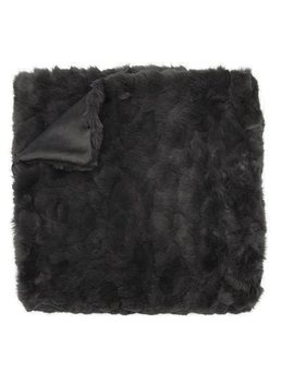 Textured Faux Fur Throw Blanket – Soft Charcoal by Indigo