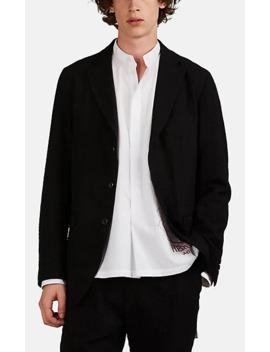 Wool Blend Jacquard Two Button Sportcoat by Sage De Crêt