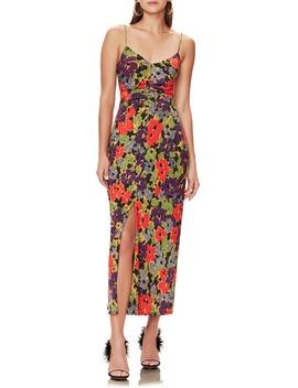 Rosie Sleeveless V Neck Midi Dress by Afrm