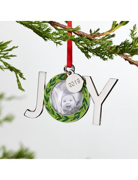 Joy Wreath 2019 Frame Ornament by Crate&Barrel