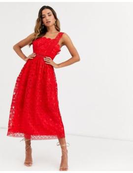 Asos Design Broderie Cami Midi Prom Dress by Asos Design