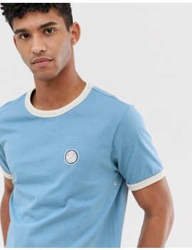 Pretty Green Ringer T Shirt In Blue by Pretty Green