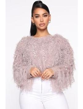 Bare My Soul Fuzzy Sweater   Mauve by Fashion Nova