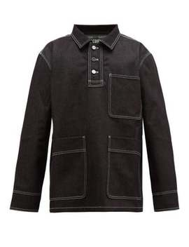 Moulin Contrast Stitching Denim Shirt Jacket by Jacquemus