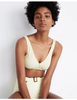Solid & Striped® Annie Ribbed Bikini Top by Madewell