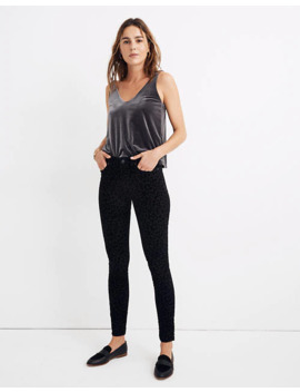 "9"" Mid Rise Skinny Jeans: Flocked Leopard Edition by Madewell"