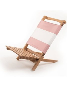 Business & Pleasure Co. Two Piece Chair Pink Stripe by Business & Pleasure Co.