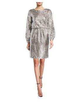 Julia Jordan Short Sequin Long Sleeve Dress by Julia Jordan