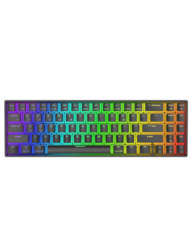 Royal Kludge Rk71 71 Keys Dual Mode Bluetooth 3.0 + Usb Wired Rgb Backlit Mechanical Gaming Keyboard    White Blue Switch by Royal Kludge