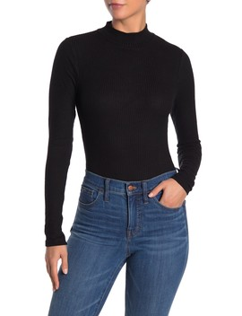 Rib Knit Mock Neck Bodysuit by Coco + Jaimeson