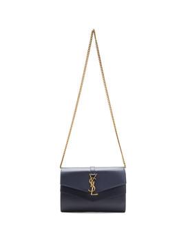 Grey Sulpice Chain Wallet Bag by Saint Laurent