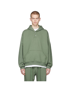 Green 'sixth Collection' Everyday Henley Hoodie by Fear Of God