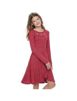 Girls 7 16 & Plus Size So® Cozy Dress by Girls 7 16 & Plus Size So