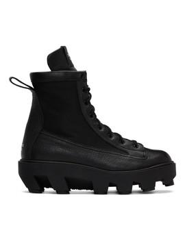 Black Therapist Lace Up Boots by S.R. Studio. La. Ca.