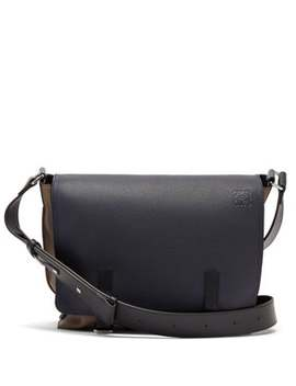 Military Leather Messenger Bag by Loewe