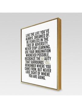 "Be You Framed Canvas 16""X20""   Threshold™ by Shop Collections"