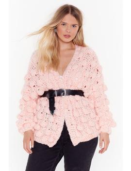 I Like Big Bobbles Plus Knit Cardigan by Nasty Gal