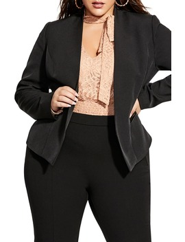 Open Front Blazer by City Chic