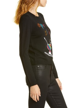 Connie Embellished Stretch Wool Sweater by Alice + Olivia