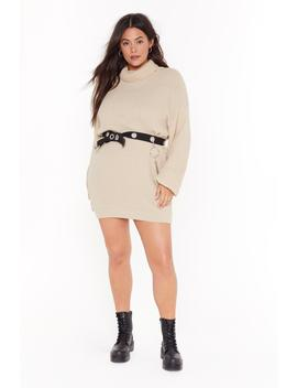 Roll With The Punches Plus Knit Dress by Nasty Gal