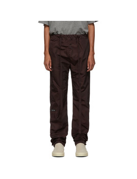 Burgundy Nylon Lounge Pants by Fear Of God