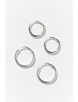 Girls Crew Endless Mini Hoop Earring Set by Girls Crew