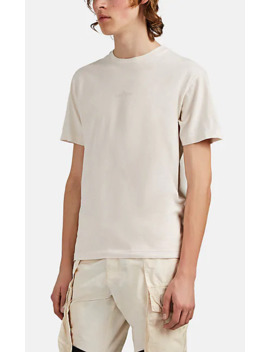 Logo Cotton T Shirt by Stone Island