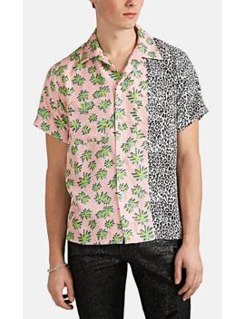 Palm Tree  &Amp; Leopard Print Silk Twill Shirt by Amiri