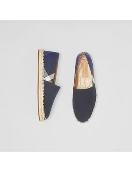 Overdyed House Check And Cotton Canvas Espadrilles by Burberry