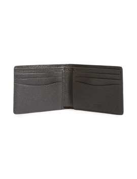 'signature' Bifold Calfskin Leather Wallet by Boss