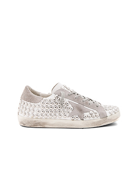 Old Superstar Sneaker In White Studs by Golden Goose